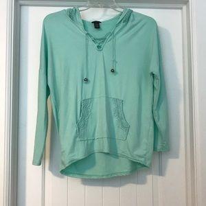 Hoodie/ sweatshirt. Color: mint